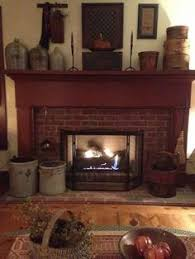 French Country Fireplace - a primitive place i absolutely love everything about this picture