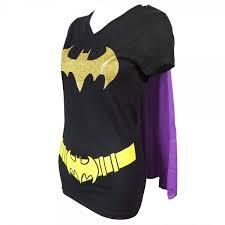 ladies dc comics batman cape t shirt black
