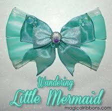 mermaid ribbon wandering mermaid bow magical ribbons