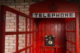 telephone booth up detail of telephone booth with fashioned