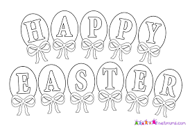 happy easter coloring pages printable archives within happy easter
