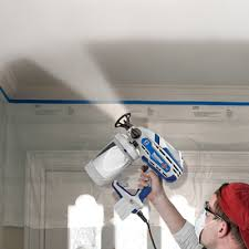 can you use a paint sprayer to paint kitchen cabinets how to paint popcorn ceilings other ceiling textures