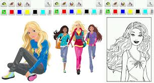 barbie coloring game images of photo albums barbie coloring pages