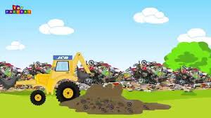 monster truck video for kids jcb jcb for children jcb and garbage trucks videos for