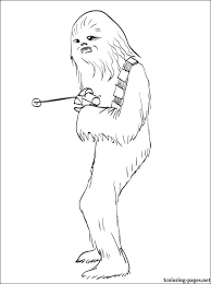 star wars chewbacca printable color coloring pages