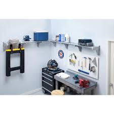 ez shelf 40 in 75 in metal 2 expandable garage shelf in silver