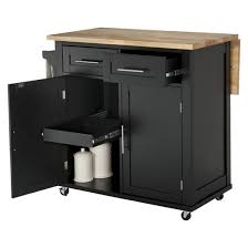 storage furniture kitchen large kitchen island with wood top and storage threshold target