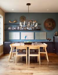 Dining Room Accents Blue Accent Wall Dining Room Dining Room Transitional With White
