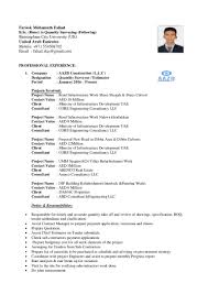 Sample Resume Objectives Of Call Center Agent by Mohamath Fahad Cv For Post Of Quantity Surveryor
