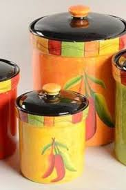 107 best kitchen storage jars kitchen canister sets images on chili pepper canister set for kitchen storage