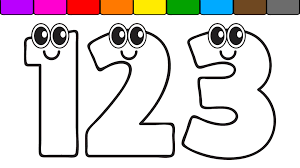 learn colors for kids with this numbers coloring page youtube