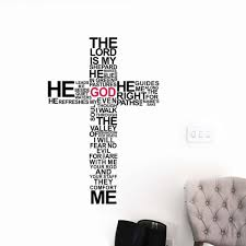 compare prices on christian wall murals online shopping buy low christian god wall art sticker decal cross jesus christ psalm pray bible bedroom mural room decoration