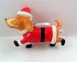 corgi dog christmas ornament santa suit hat hallmark original box