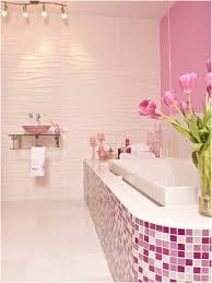 beautiful pink tiles bathroom