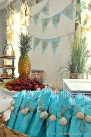 tropical themed wedding bridal brunch at the themed wedding shower party