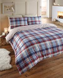 King Size Brushed Cotton Duvet Covers Flannelette Cotton Homemaker Bedding