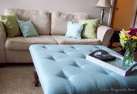 blue tufted ottoman creative of coffee table with regard to