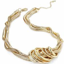 chunky necklace designs images Women 39 s gold plated stylish modern eye catching fashion free jpg