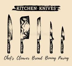 restaurant kitchen knives vector kitchen chefs knives set butchers tools