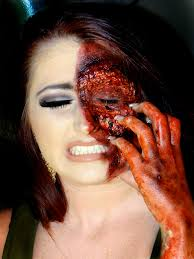 special effects makeup for halloween here u0027s another photo of my sisters half burnt face makeup by me