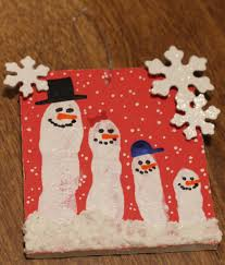 winter and christmas themed crafts for kids handprint fingerprint