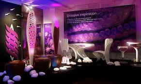 Glamour Showroom That Full Of Organic Designs  Underwater Design - Furniture showroom interior design ideas