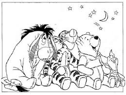winnie the pooh and friends look sky coloring pages 607061