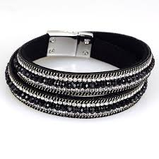 magnetic wrap bracelet images Crystal bracelets mesh chain with full resin crystal magnetic jpg