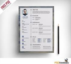 creative resume templates free download psd format to html free clean resume psd template mlp pinterest psd templates