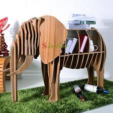 wood elephant table for living room decor diy animal furniture