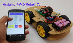 smartphone controlled arduino 4wd robot car part ii youtube
