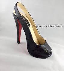 shoe cake topper gum paste high heel shoe cake topper sugar shoes fondant shoe