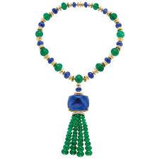 sapphire emerald necklace images Bulgari elizabeth taylor emerald and sapphire necklace jpg