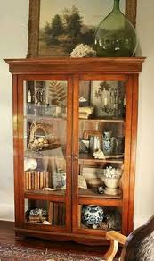 stunning glazed crockery cupboard primitive furniture