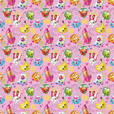 gift wrap paper shopkins wrapping paper 5 x 2 5 ft 1ct walmart