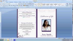 funeral program software how to customize a funeral program templates thememorybookshop
