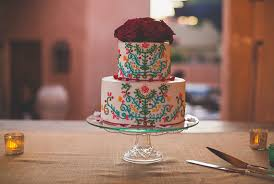 mexico destination wedding liza paul 100 layer cake