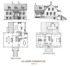 new old house plans glazier farmhouse 2 871 sq ft floor plans pinterest