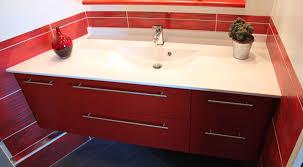 salle de bain plan de travail meuble entre murs avec un angle à 135 atlantic bain