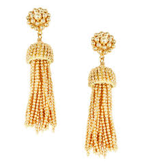 earrings gold tassel earrings gold lisi lerch