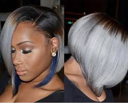 african american hairstyles for grey hair 50 short hairstyles for black women blue highlights short