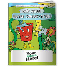 coloring book wise about water conservation better life line
