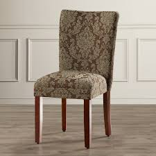 damask chair three posts hazelwood upholstered damask parsons chair reviews