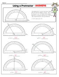 reading protractor worksheet free worksheets library download
