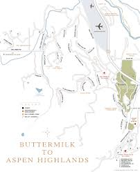 Aspen Map Buttermilk Aspen Highlands Aspen Estates