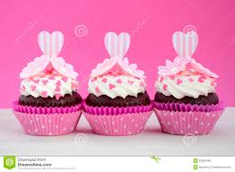 Mother S Day Decorations Happy Mothers Day Pink And White Cupcakes Stock Photo Image