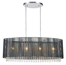 Crystal Drum Shade Chandelier 6 Light Chrome Drum Shade Chandelier From Our Sheer Collection