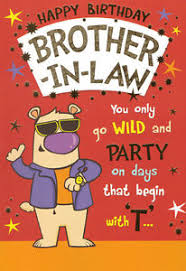 funny humorous brother in law happy birthday card 2 x cards to