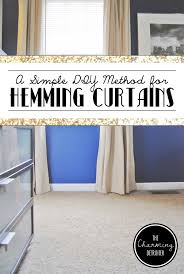 Hemming Tape Curtains A Simple Diy Method For Hemming Curtains The Charming Detroiter