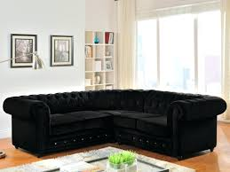 canap chesterfield angle canape angle velours canapac dangle gauche empire noir velours style